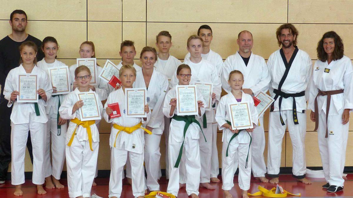 Taekwondoprüfung2017